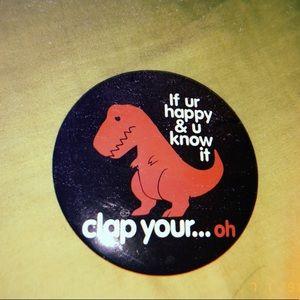 vintage dinosaur button